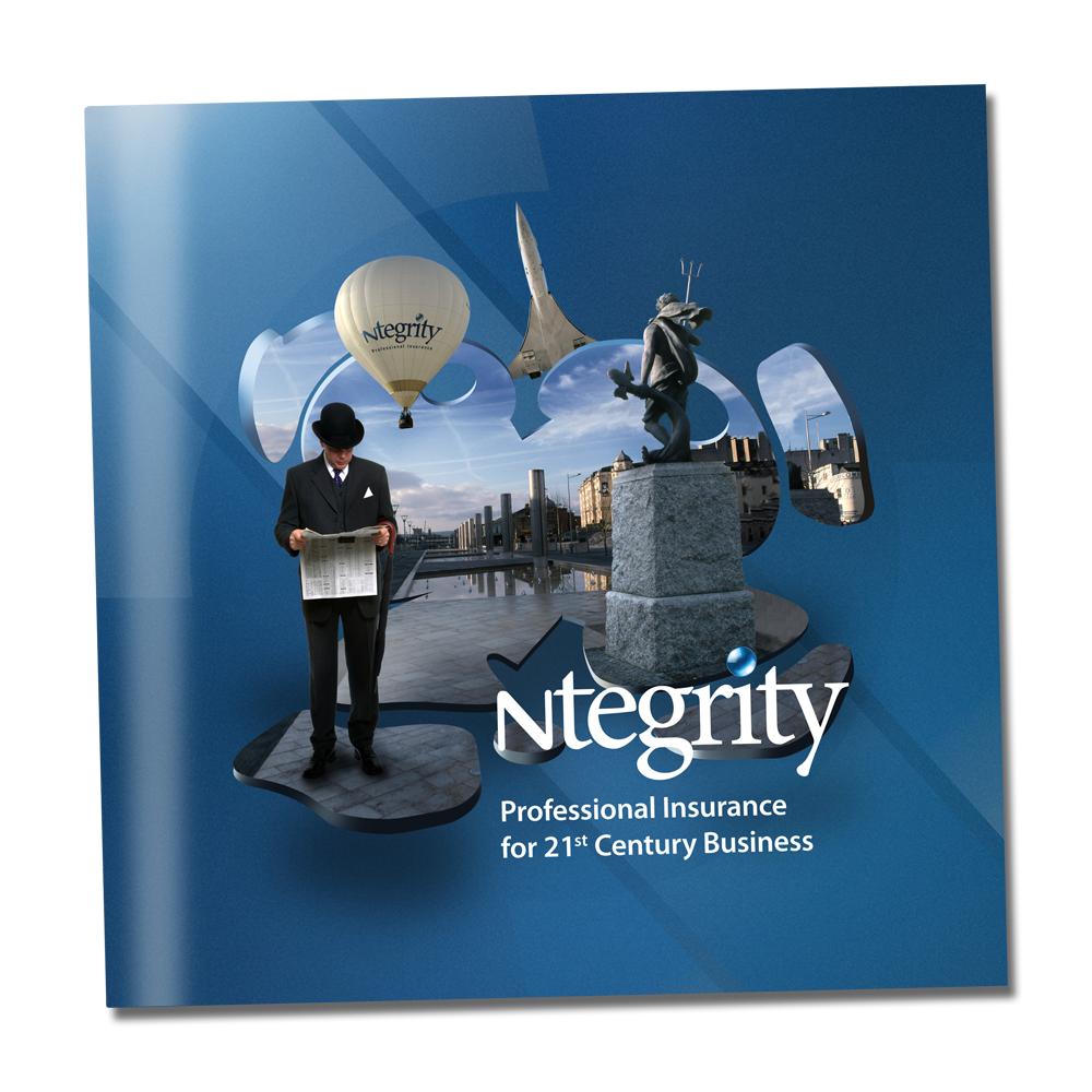 image of Ntegrity Professional Insurance 16 page square brochure cover