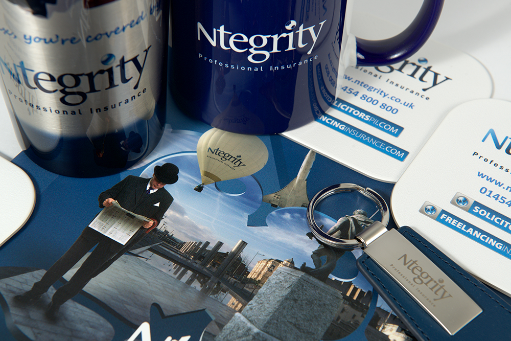image of various items of Ntegrity Professional Insurance merchandise